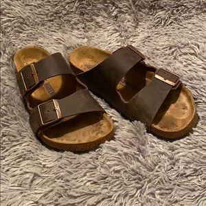 Birkenstock Arizona Oiled Leather Sandals Brown 39
